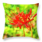 Spider Lily Cezanne Throw Pillow