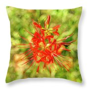 Spider Lily Pop Throw Pillow