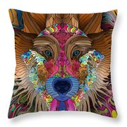 Spirit Wolf Throw Pillow by Mark Taylor
