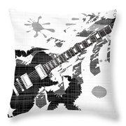 Splatter Guitar Throw Pillow