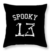 Spooky 13 Halloween Jersey Throw Pillow