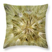 Dandelion Bloom Throw Pillow