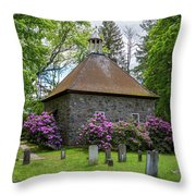 Spring At The Crispell Memorial French Church Throw Pillow