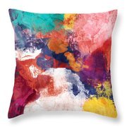 Spring Crush 3- Abstract Art By Linda Woods Throw Pillow