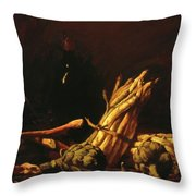 Spring Harvest Also Known As Still Life With Asparagus 1887 Throw Pillow