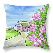 Spring Lilac Throw Pillow