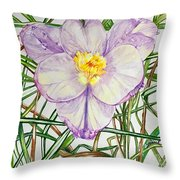 Spring Macro Tangle Throw Pillow