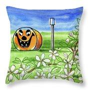 Spring-o-ween Throw Pillow