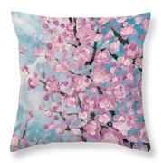 Spring Pink Throw Pillow