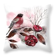 Spring Rests In The Heart Of Winter Throw Pillow