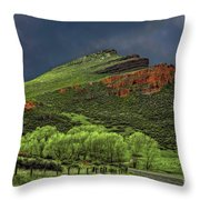 Spring Storm At Milepost 84 Throw Pillow