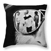 Springsteen Reflection Throw Pillow
