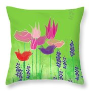 Springy Throw Pillow by Gina Harrison