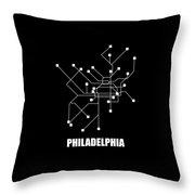 Square Philadelphia Subway Map Throw Pillow