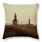 St. Joseph Lighthouse - Digital Pencil Throw Pillow