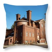 St. Leo Catholic Church Throw Pillow by Fran Riley