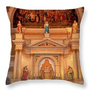 St. Louis Cathedral Altar New Orleans Throw Pillow