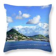 St. Maarten Panorama Throw Pillow