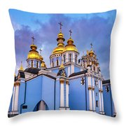 St. Michael's Golden-domed Monastery Throw Pillow