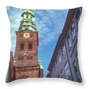 St. Nikolai Church Tower Throw Pillow