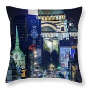 St. Sava Temple In Belgrade Throw Pillow