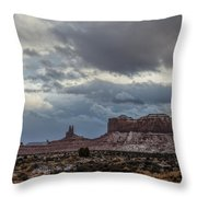 Stagecoach To Saddleback Throw Pillow