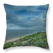 Stairs To The Beach Throw Pillow by Judy Hall-Folde