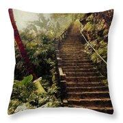 Stairway To Yesterday Throw Pillow