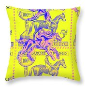 Stamps And Stallions Throw Pillow