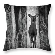 Standing Tall Throw Pillow by Michael Hubley
