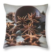 Star Anise 4825 By Tl Wilson Photography  Throw Pillow