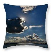 Star Over The Upper Niagara River Throw Pillow