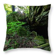 Starburst In The Woods Throw Pillow