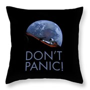Starman Don't Panic In Orbit Throw Pillow