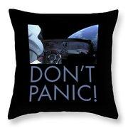 Starman Don't You Panic Now Throw Pillow