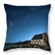 Stars And Midnight Blue Throw Pillow
