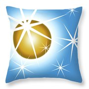 Stars And Sphere Throw Pillow