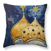 Stars Near And Far Throw Pillow by Maria Langgle