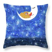 Stars On Earth Throw Pillow