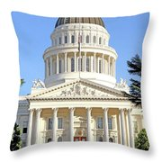 State Of California Capitol Building 7d11736 Throw Pillow