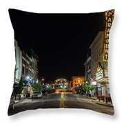 State Street With The Newly Lit Bristol Sign Throw Pillow