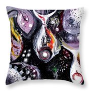Static Fish Suspended Throw Pillow