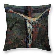 Station 12 Jesus Dies On The Cross Throw Pillow