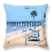 Station 3 Oceanside California Throw Pillow