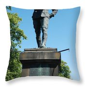 statue In memory of Gallant Soldier Lt. Col. George Elliott Bens Throw Pillow