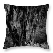 Statue In The Grass Throw Pillow