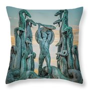 Statue Of Heracles The Hero Throw Pillow