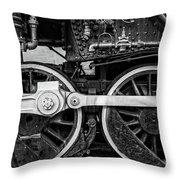 Steam Locomotive Detail Throw Pillow