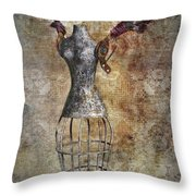 Steampunk Angel  Throw Pillow