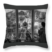 Steampunk Dreams In Black And White Throw Pillow